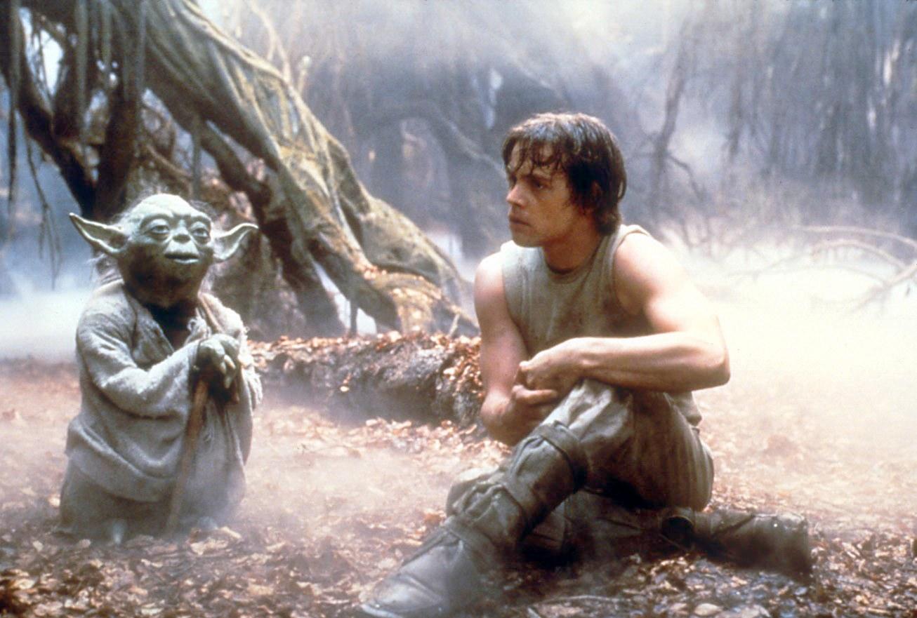 yoda and luke skywalker - training