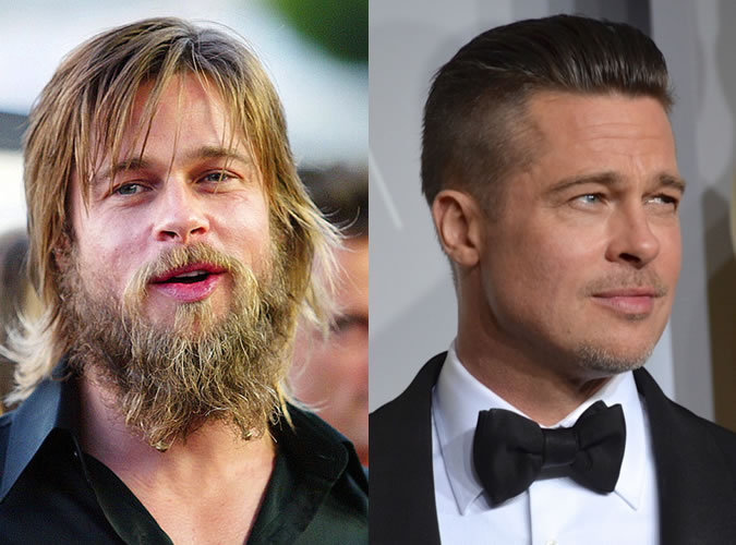 ruggedly handsome: brad pitt hair