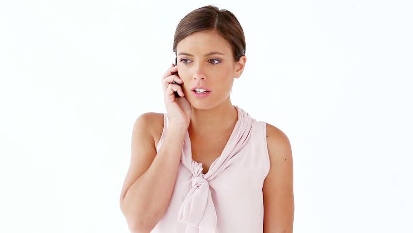 woman calling man, on phone
