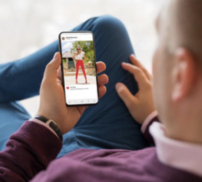 man stalking girls instagram - obsessed with girls