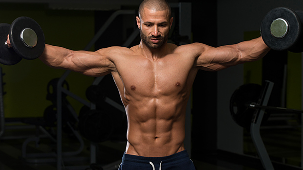 Getting the v-shape, shoulder raises
