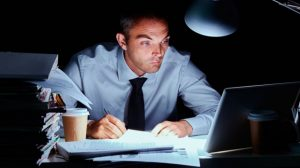 Delayed gratification - man working