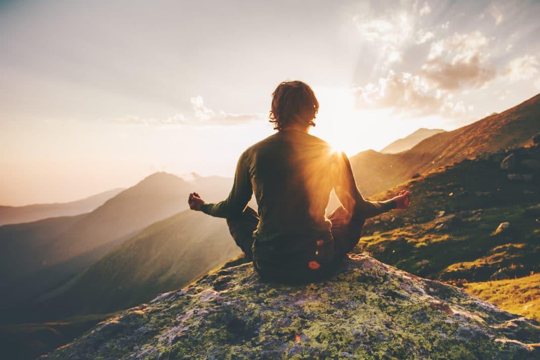 peace of mind - man meditating