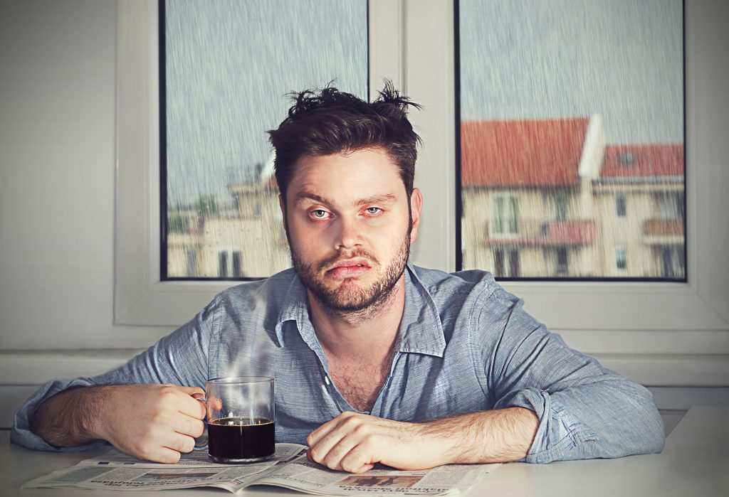 Adrenal Fatigue: Symptoms, Causes, and how to Treat - tired man coffee